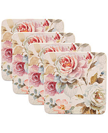 Certified International Beautiful Romance Salad Plates, Set of 4