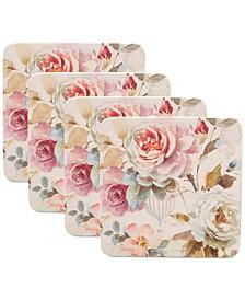 Certified International Beautiful Romance Salad Plates, Set of 4