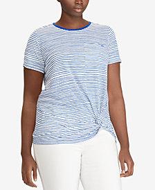 Lauren Ralph Lauren Plus Size Linen Blend Jersey Top