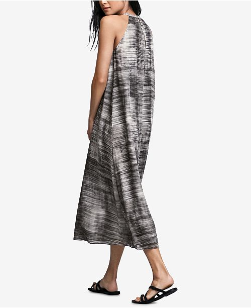 Eileen Fisher Midi Silk Halter Dress Limestone qPqwY10