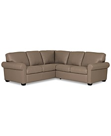 "Orid 2-Pc. ""L""-Shaped Leather Sectional Sofa, Created for Macy's"