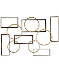 Elias Bronze-Tone & Gold-Finish Iron Wall Art