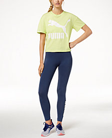 Puma Cropped Logo T-Shirt & Leggings