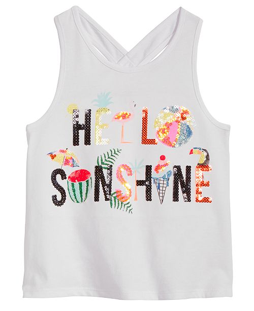 Epic Threads Toddler Girls Hello Sunshine Tank Top, Created for Macy's