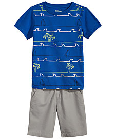 Epic Threads Little Boys Graphic-Print T-Shirt & Pull-On Shorts Separates, Created for Macy's