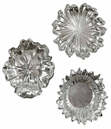 3-Pc. Silver-Plated Flowers Wall Art Set