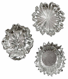 Uttermost 3-Pc. Silver-Plated Flowers Wall Art Set