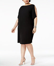 Anne Klein Plus Size Ruffled-Sleeve Dress