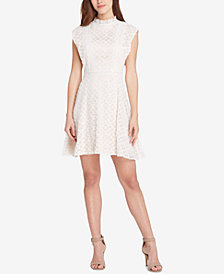 Tahari ASL Lace Fit & Flare Dress