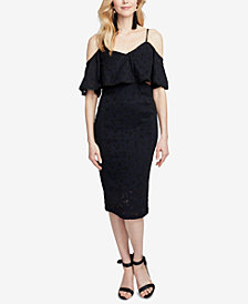 RACHEL Rachel Roy Cutout Lace Midi Dress