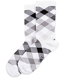 HUE® Women's Gingham Argyle Socks