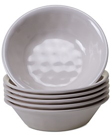 Certified International 6-Pc. Cream Melamine All-Purpose Bowl Set