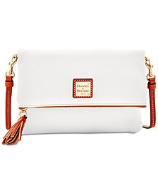 Foldover Zip Small Pebble Leather Crossbody