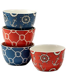 Certified International Coastal Life Ice Cream Bowls, Set of 4