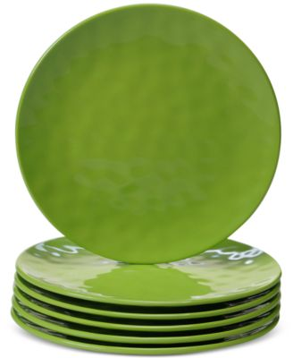 6-Pc. Green Melamine Salad Plate Set