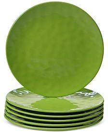 6-Pc. Green Melamine Salad Plate Set