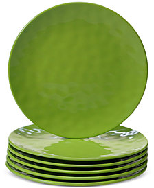 Certified International 6-Pc. Green Melamine Salad Plate Set