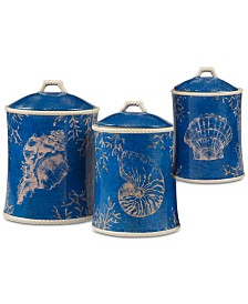 Certified International Seaside Canisters, Set of 3