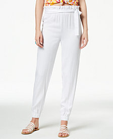 The Edit By Seventeen Juniors' High-Waisted Paper Bag Pants, Created for Macy's