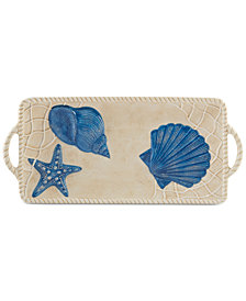 Certified International Seaside Rectangular Tray With Handles