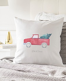 """Cathy's Concepts Tree Truck 16"""" Square Decorative Pillow"""