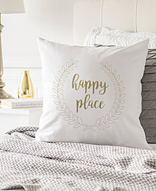 "Cathy's Concepts Happy Place 16"" Square Decorative Pillow"