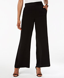 Nine West Pull-On Wide-Leg Pants
