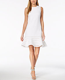 Calvin Klein Sleeveless Flounce-Hem Dress