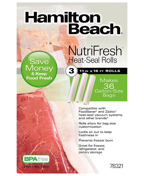 Hamilton Beach NutriFresh™ Heat-Seal Rolls