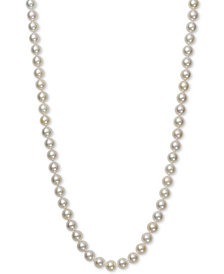 "Belle de Mer Pearl Necklace, 16"" 14k Gold AA Akoya Cultured Pearl Strand (6-6-1/2mm)"