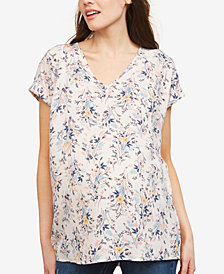 Motherhood Maternity Printed V-Neck Top