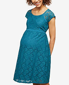 Created for Macy's Motherhood Maternity Lace Dress