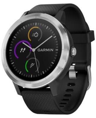 Unisex vívoactive® 3 Black Silicone Strap Smart Watch 43mm