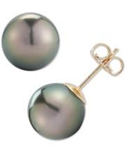 de791d2ae Tahitian Pearl Earrings: Shop Tahitian Pearl Earrings - Macy's