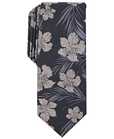 Bar III Men's Heli Floral Skinny Tie, Created for Macy's