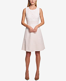 Tommy Hilfiger Lace-Trim Swing Dress