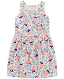 Carter's Little & Big Girls Strawberry-Print Cotton Tank Dress