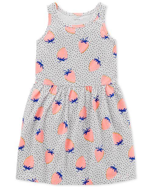 98e6151e6 Carter's Toddler Girls Strawberry-Print Cotton Tank Dress. Macy's / Kids /  Dresses