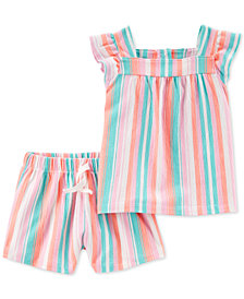 Carter's Toddler Girls 2-Pc. Striped Top & Shorts Set