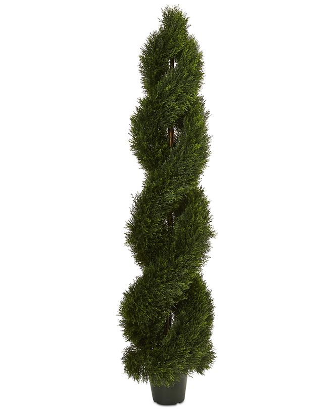 Nearly Natural Double Pond Cypress Spiral Indoor/Outdoor Topiary