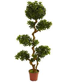 Nearly Natural 5' Artificial Pittosporum UV-Resistant Indoor/Outdoor Tree