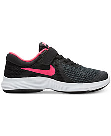Nike Little Girls' Revolution 4 Athletic Sneakers from Finish Line