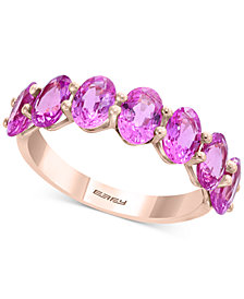 EFFY® Pink Sapphire Ring (4 ct. t.w.) in 14k Rose Gold