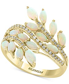 EFFY® Opal (1-1/3 ct. t.w.) & Diamond (1/5 ct. t.w.) Ring in 14k Gold