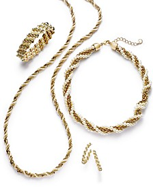 Gold-Tone & Imitation Pearl Jewelry Separates, Created for Macy's