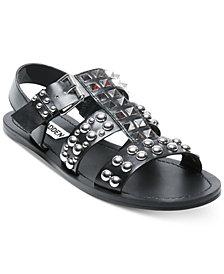 Steve Madden Women's Sharon Studded Flat Sandals