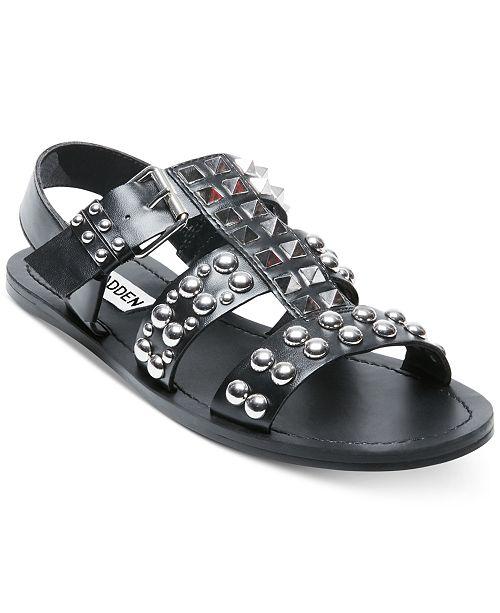 Steve Madden Women's Sharon Studded Flat Sandals gS00G
