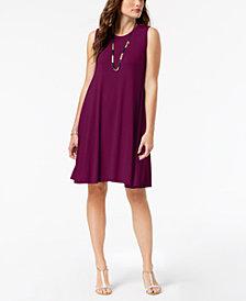 Style & Co. Petite Sleeveless Swing Dress, Created for Macy