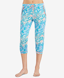 Layla Printed Cropped Jogger Pajama Pants