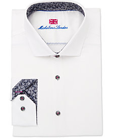 Michelsons of London Men's Slim-Fit Performance Solid Dress Shirt